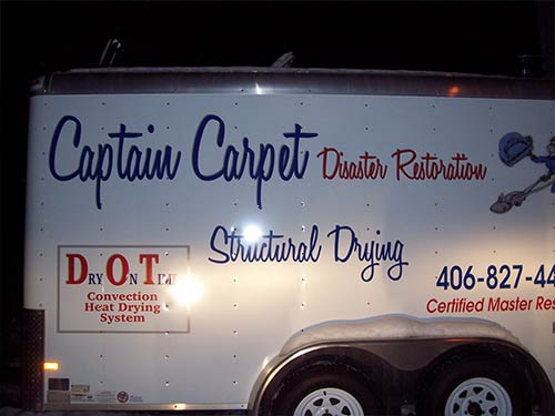 Captain Carpet Thompson Falls Disaster Recovery Water Mold Fire Structural Drying Carpet Cleaning